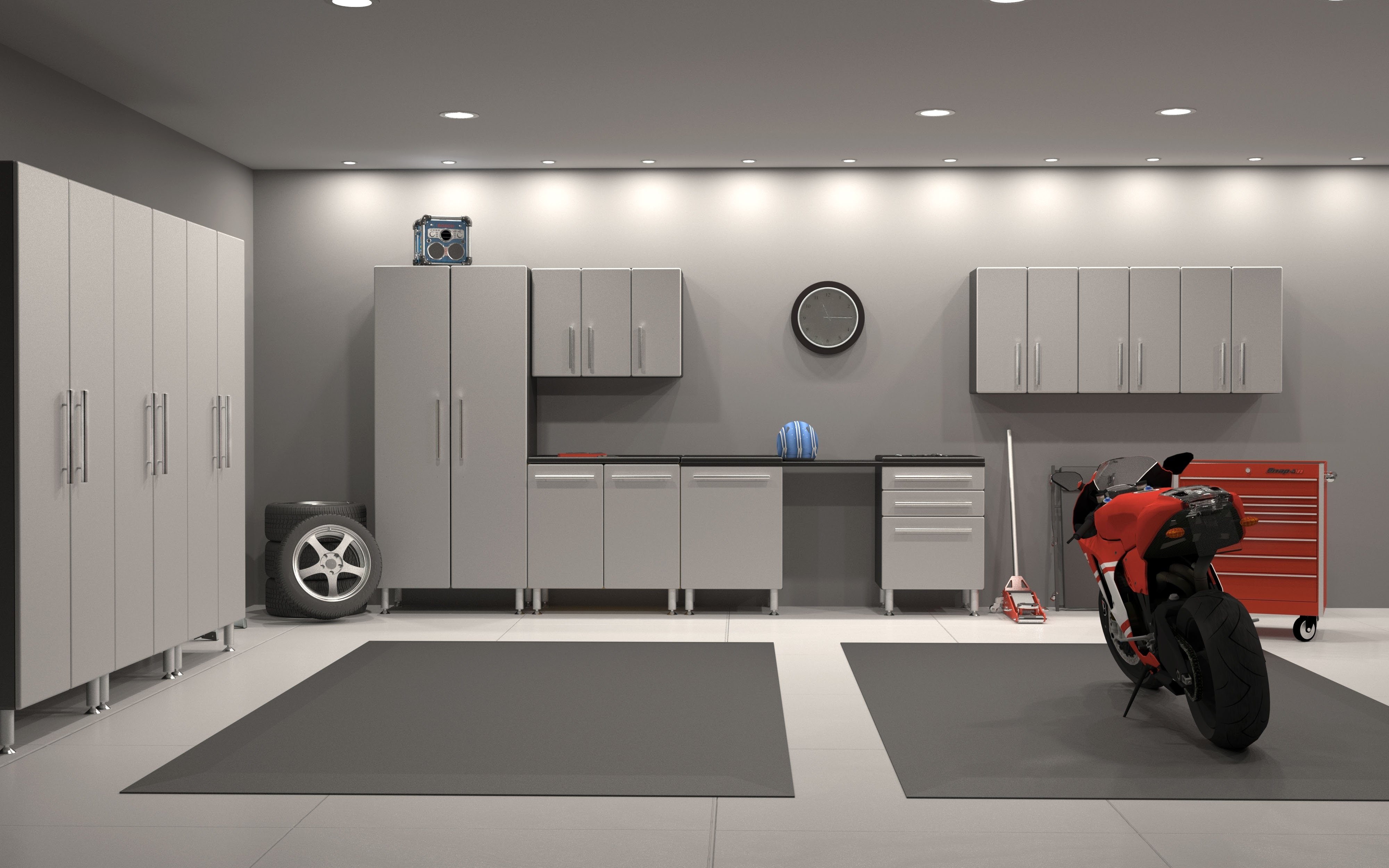 Garage Flooring And Ulti Mate Cabinets